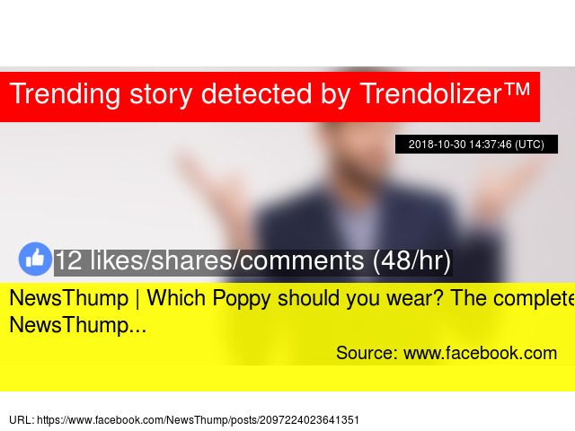 NewsThump | Which Poppy should you wear? The complete