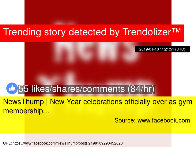 NewsThump   New Year celebrations officially over as gym